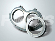 Hard alloy eyeglass plate and cutting ring